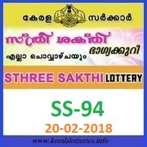STHREE SAKTHI (SS-94) LOTTERY RESULT