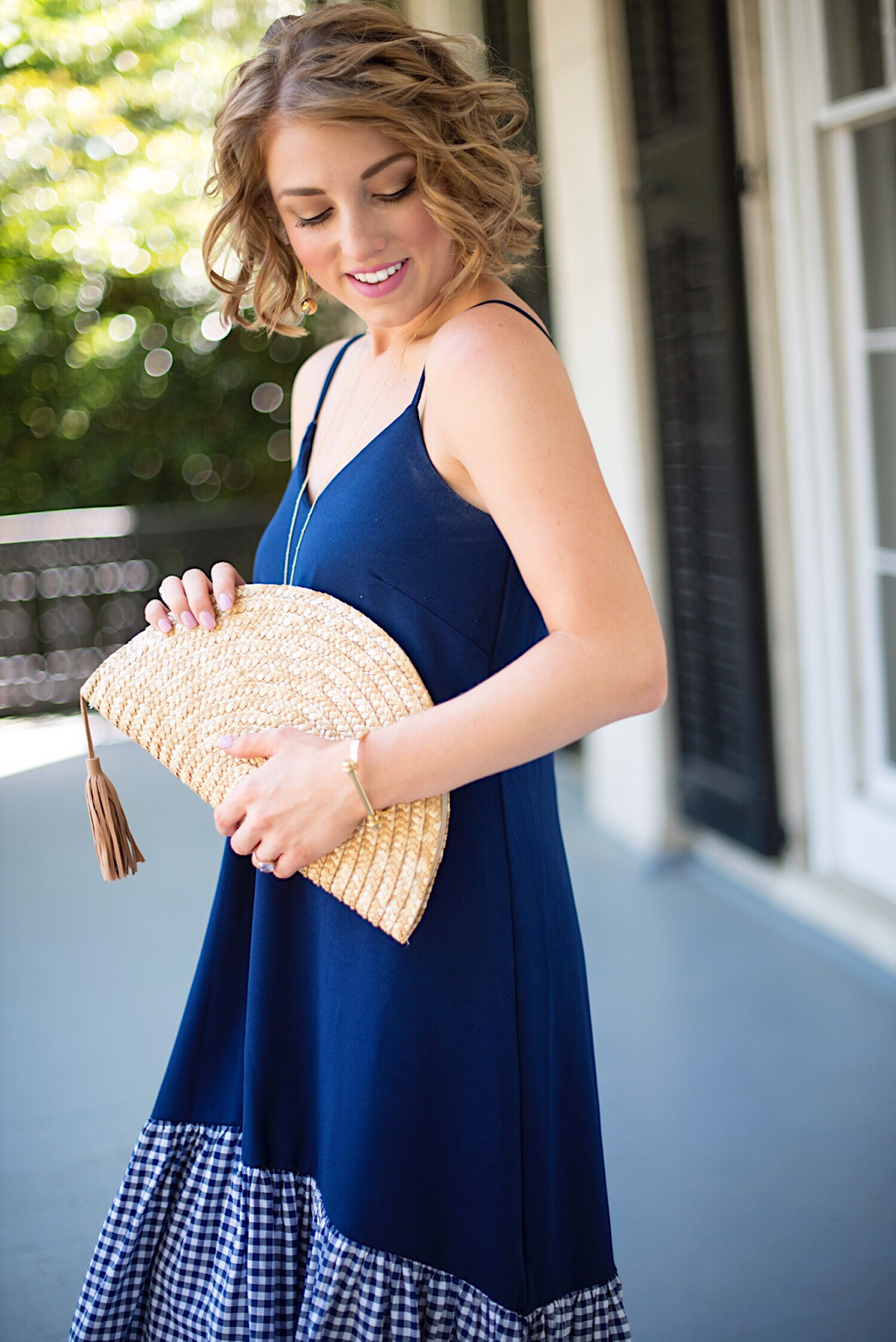 Half Moon Straw Clutch - Click through to see more on Something Delightful Blog