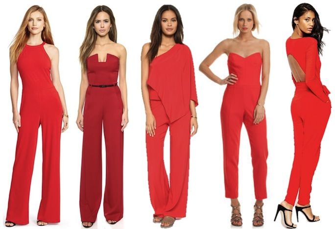 Shop Red Jumpsuits