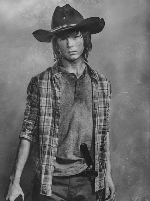 Chandler Riggs como Carl Grimes – The Walking Dead _ sexta temporada, Silver Portraits – Photo Credit: Frank Ockenfels 3/AMC