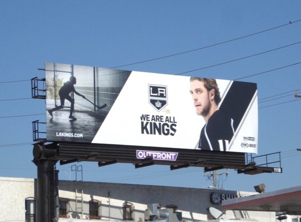 We are all LA Kings ice hockey billboard