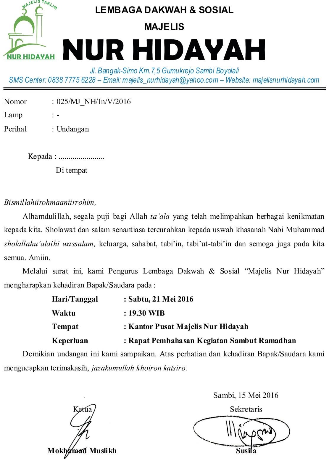 Contoh Proposal Zakat  Contoh