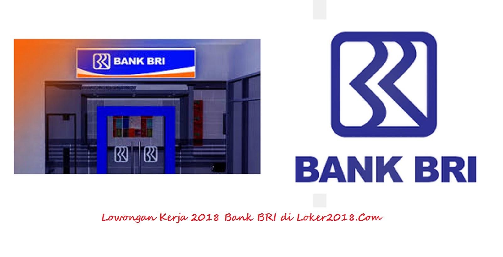 Loker Bank BRI 2018