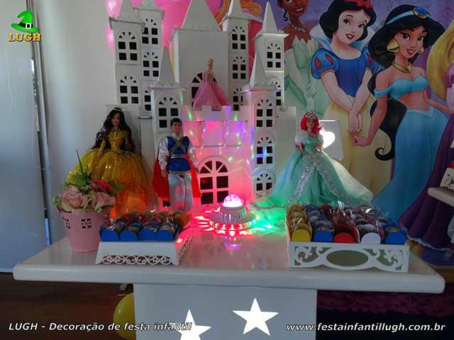 Festa infantil das Princesas Disney - Decoração de aniversário