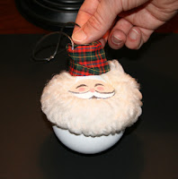 Santa Claus Light Bulb Ornaments