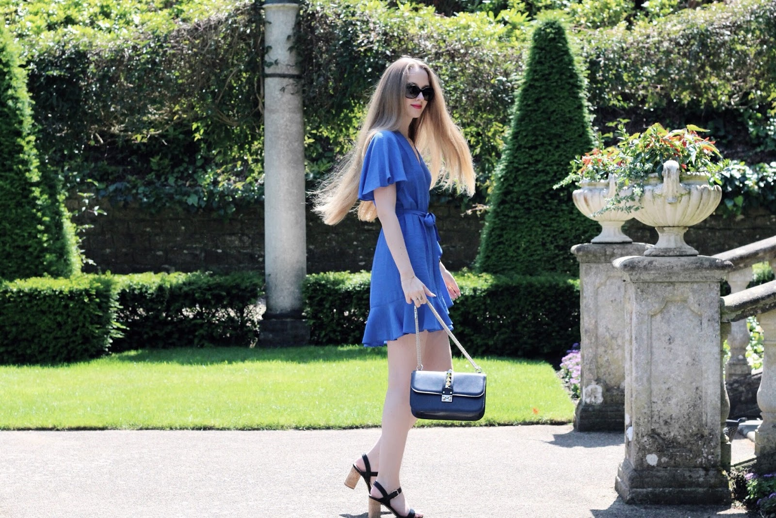 Cobalt Blue Topshop Summer Wrap Dress