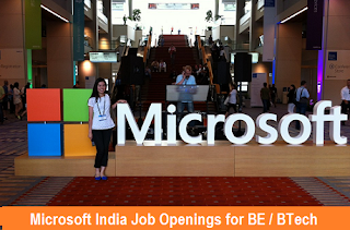 Microsoft India Job Openings for Consultants for BE / BTech Engineers