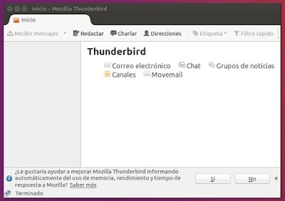 Inicio - Mozilla Thunderbird