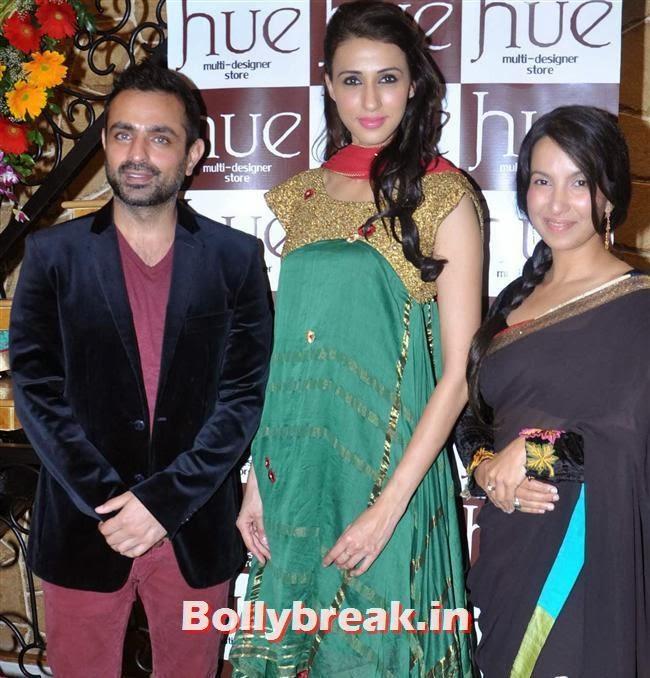 Mayank, Shraddha with Alesia Raut, Mandira Bedi & Kajal Aggarwal at HUE Store Launch