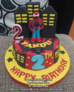 Fondant Birthday Cake Spiderman