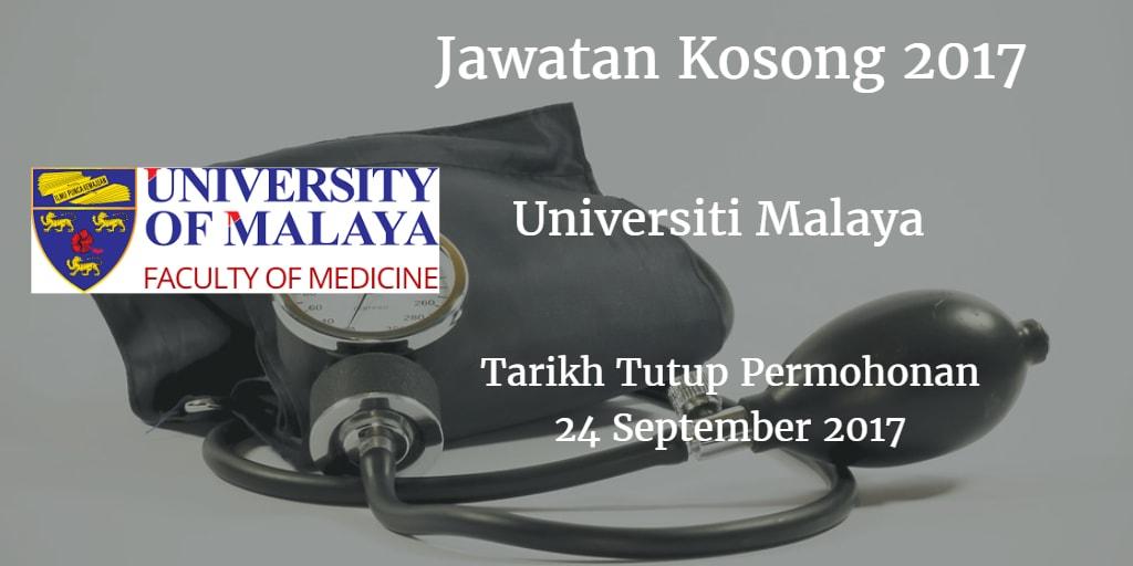 Jawatan Kosong UM 24 September 2017