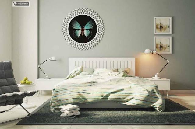 Dekorasi kamar tidur winter
