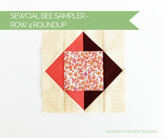 Sewcial Bee Sampler Row 4 Roundup | Square Peg Quilt Block | Shannon Fraser Designs | Modern Quilting | Sew-A-Long