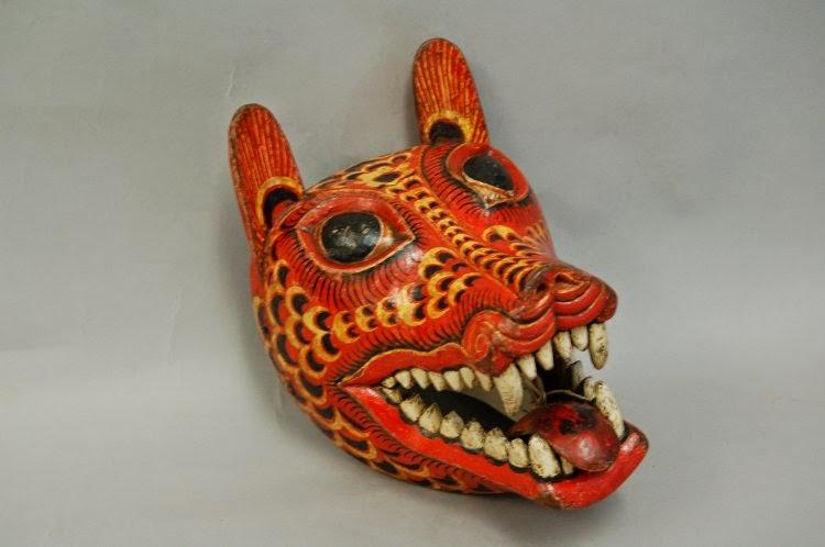 Sri Lanka traditional mask kolam