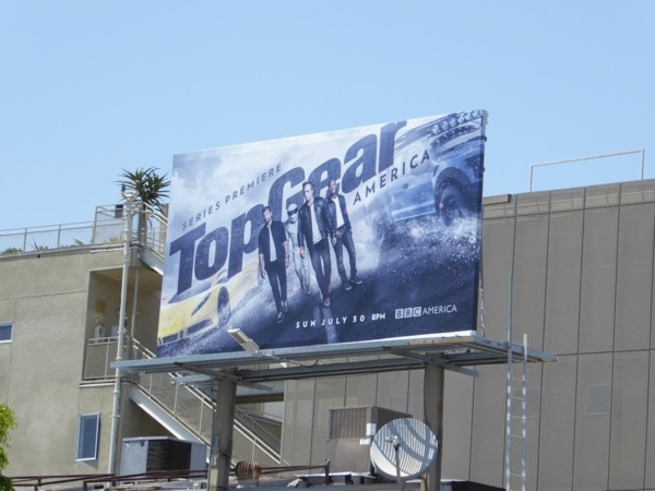 Top Gear America series premiere billboard