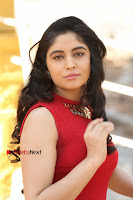 Telugu Actress Zahida Sam Latest Pos in Red Gown at RF Films New Movie Opening  0013.JPG