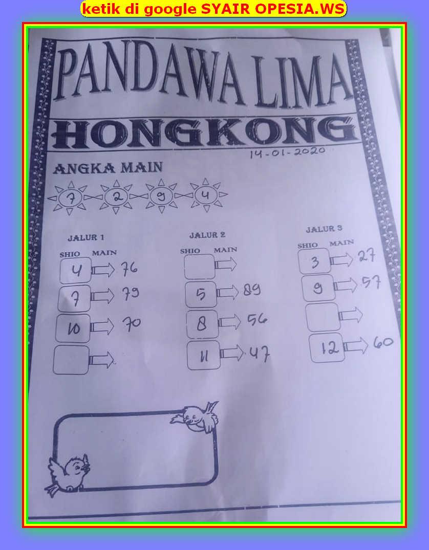 Kode syair Hongkong Selasa 14 Januari 2020 41