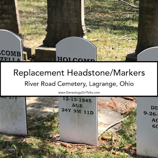 New style of Replacement Headstone Markers from GenealogyGirlTalks.com