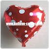 Balon Foil Hati Polkadot / Foil Love Polkadot