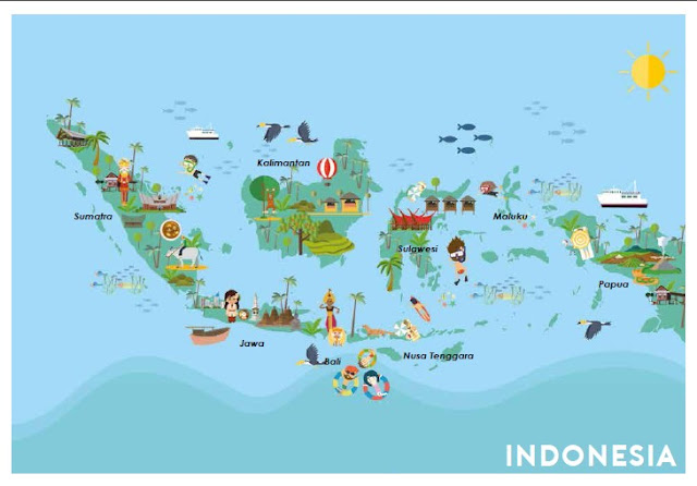 Peta pariwisata Indonesia. Sumber : Kalender Event Pariwisata Nasional Tahun 2017 dari www.indonesia.travel.