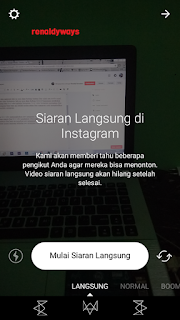 Cara Live Video Di Instagram