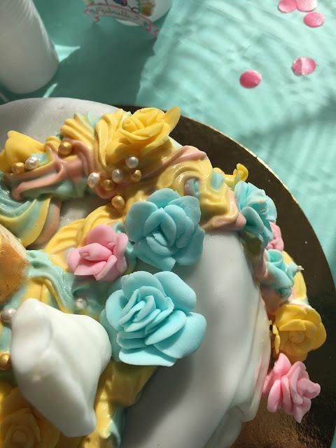 gâteau licorne vue dessus