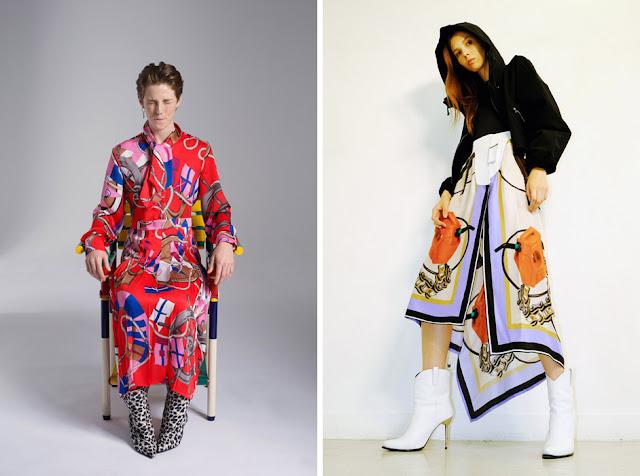 Платье и юбка с платочным принтом