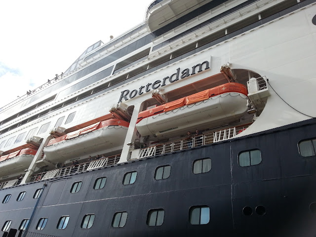 Holland America cruise ship Rotterdam (1997) in Bergen, Norway
