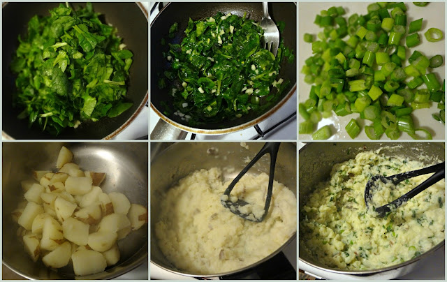 Spinach and Garlic Mashed Potatoes