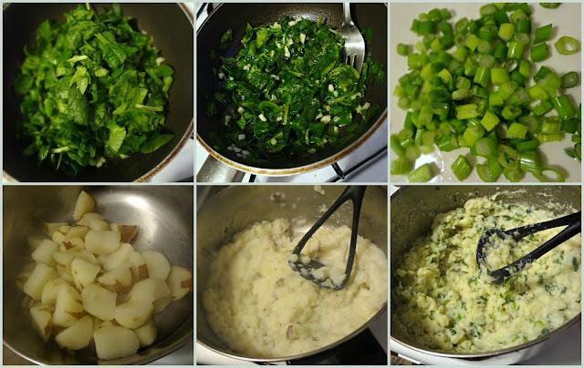 Spinach and Garlic Mashed Potatoes