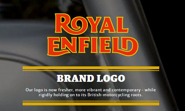 Royal Enfield logo.