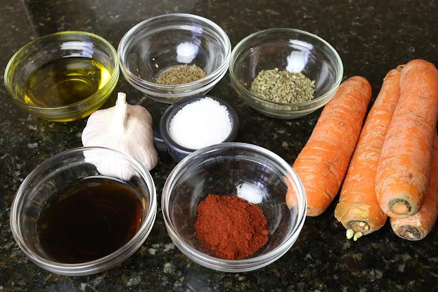 Ingredientes para zanahorias aliñadas