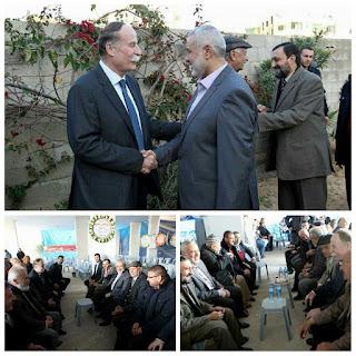 wafatnya pemuka agama kristen di gaza diziarahi mantan perdana mentri dan pejabat