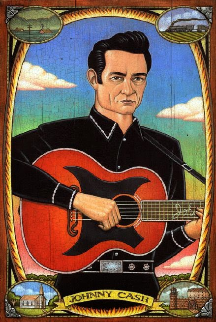 Johnny Cash - Grandes personalidades pintada por Marc Burckhardt