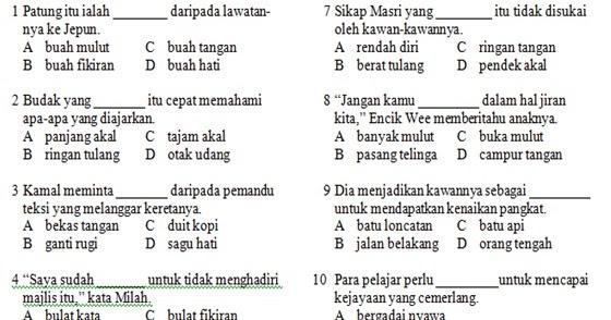 Soalan Bahasa Malaysia Tahun 4 Pemahaman Spooky H
