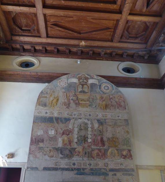 trionfo di sant'agostino alla pinacoteca di palazzo dei diamanti