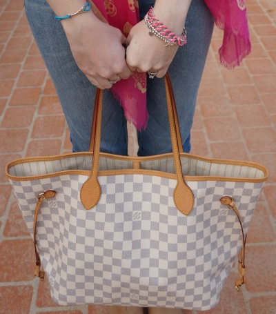 Away From the Blue Louis Vuitton Damier Azur MM NF bag