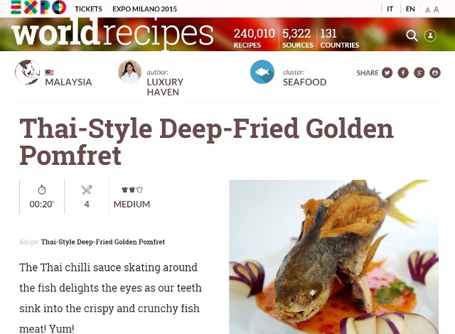 thai style crispy pomfret expo worldrecipes recipes