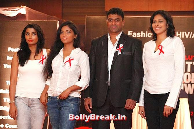 Rajashree Ponappa, Usha Jadhav, Elvis Joseph and Reeth Abraham, A fashion show to fight AIDS in Mumbai