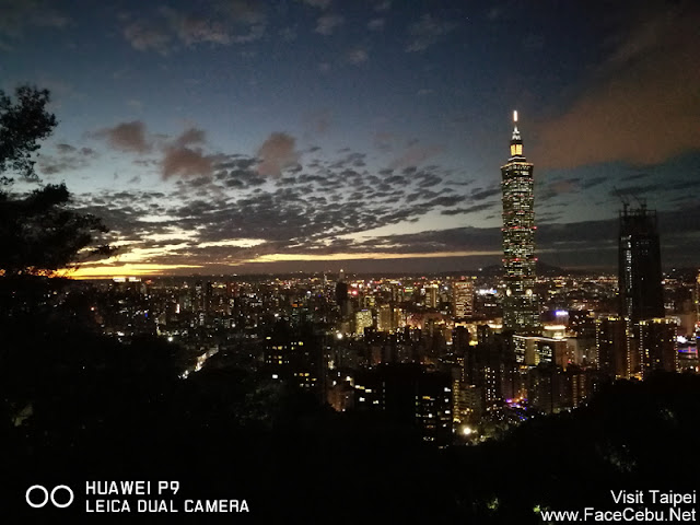 Night shot of Taipei 101