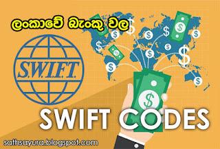 HNB, Commercial, HSBC, Sampath, BOC, NSB, Seylan ඇතුළු ලංකාවේ බැංකු වල SWIFT Codes සහ බැංකු ශාඛාවල branch codes එකම තැනකින් - සත්සයුර (sathsayura.blogspot.com)