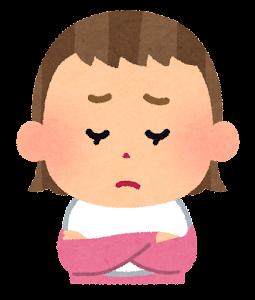 赤ちゃんの表情のイラスト(女・困った顔)