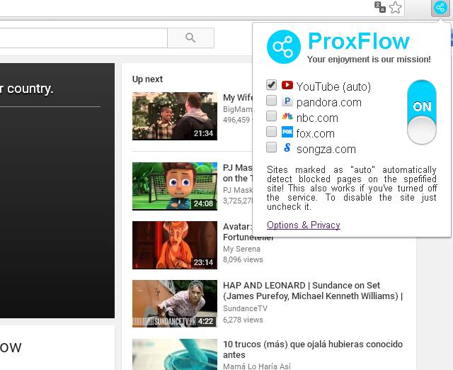 Probando la efectividad de ProxFlow