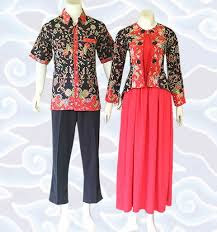 Model Busana Blouse Batik Couple terbaru