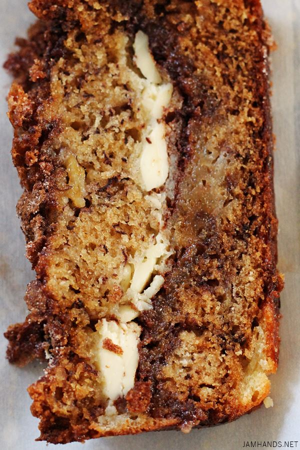 Cinnamon Swirl Cream Cheese Banana Bread