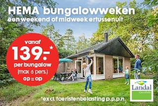 www.landal.nl/hema HEMA Bungalowweken: Landal Bungalowvoucher