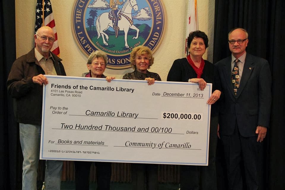 Friends Of Camarillo Library Donate 200000 To The City Of