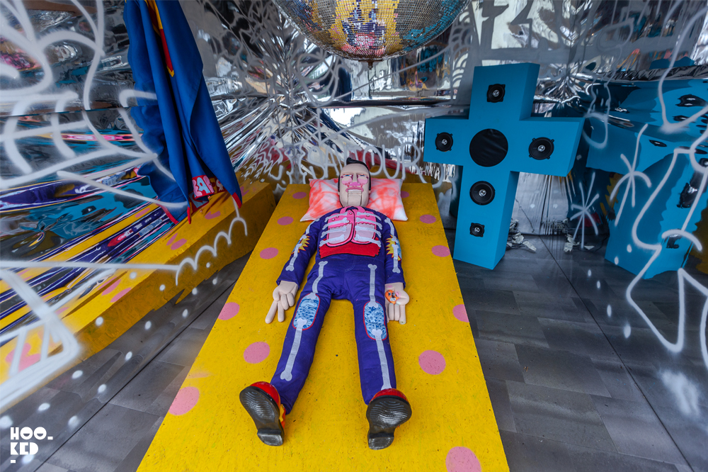 SIckboy Installation as part of Festival Iminente in East London