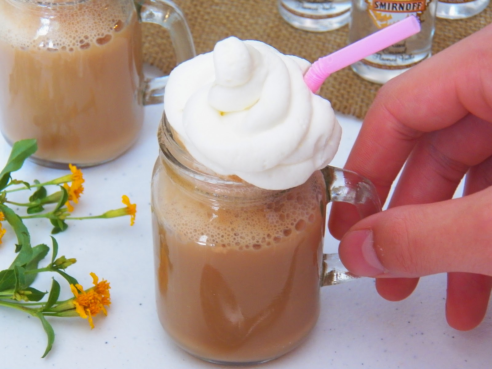 Caramel Vodka Root Beer Float Shooter