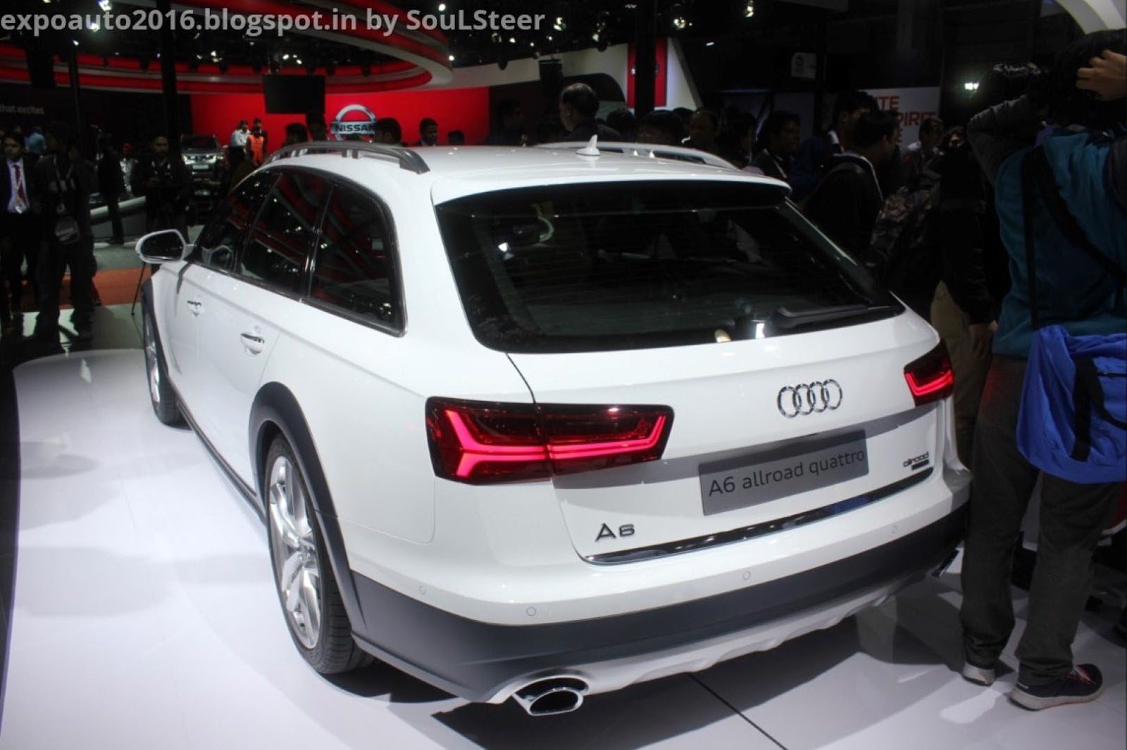 Audi A6 Allroad Quattro Station Wagon On Display At Auto Expo 2016